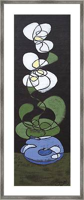 Framed Print featuring the painting Orchid Floral 1 by John Gibbs