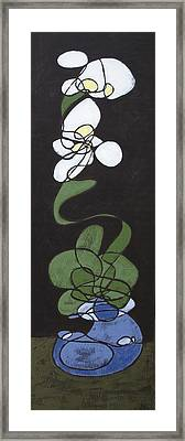 Framed Print featuring the painting Orchid Floral 2 by John Gibbs