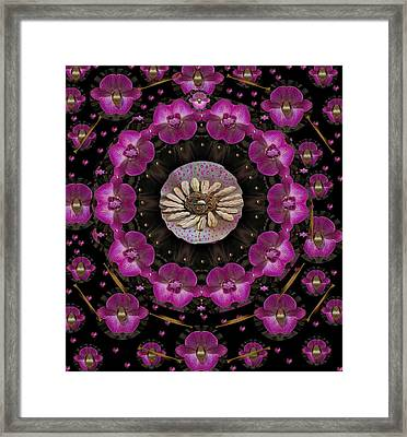 Orchids And Fantasy Flowers Framed Print by Pepita Selles