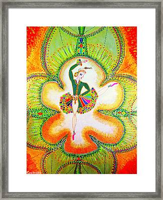 Framed Print featuring the painting Orchid's Ballerina by Marie Schwarzer