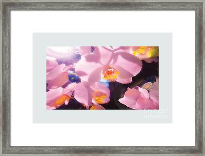 Framed Print featuring the digital art Orchids by David Klaboe