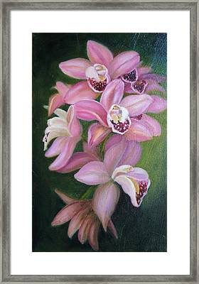 Framed Print featuring the painting Orchids by Marlyn Boyd