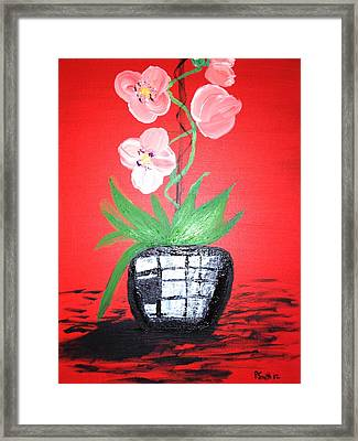 Orchids Framed Print by Pretchill Smith