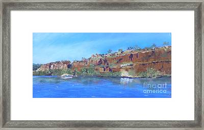 Ord River Afteroon Cruise Framed Print by Nadine Kelly
