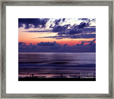 Oregon - Lincoln City Sunset Framed Print by Terry Elniski