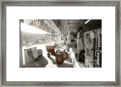 Oregon City Store Window Framed Print by Kevin Felts