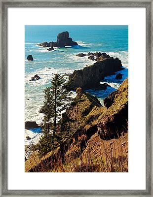 Oregon Coast Framed Print by Athena Mckinzie