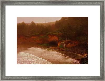 Oregon Coast Waterfall Framed Print by Daniel Morgan