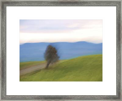 Oregon Country Road Framed Print by Carol Leigh