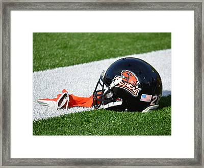 Oregon State Helmet Framed Print by Replay Photos
