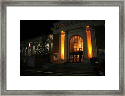 Oregon State Orange Lights At Memorial Union Framed Print by Oregon State University