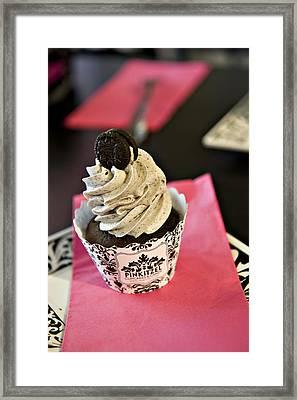 Oreo Cupcake Framed Print by Malania Hammer