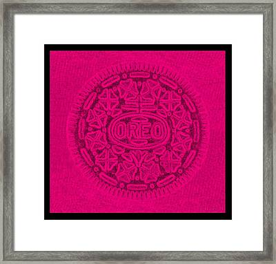Oreo In Hot Pink Framed Print by Rob Hans