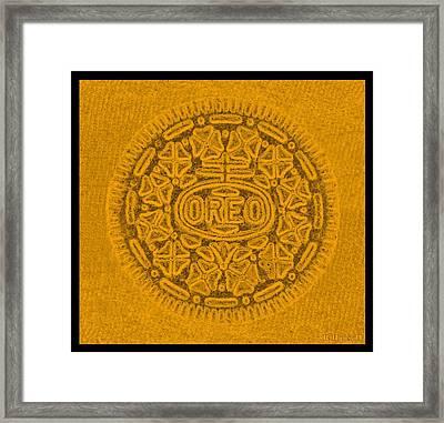 Oreo In Orange Framed Print by Rob Hans