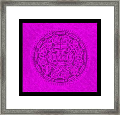 Oreo In Purple Framed Print by Rob Hans