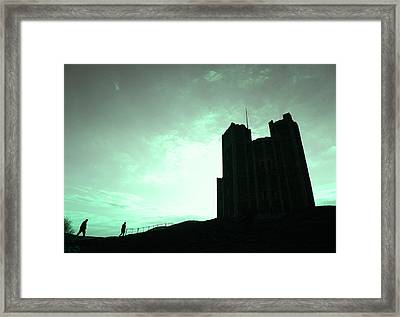 Framed Print featuring the photograph Orford Castle by David Harding