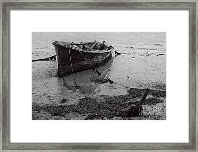 Orford Wreck Framed Print by Darren Burroughs