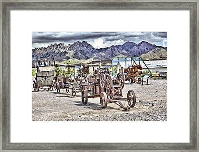 Organ Mountains Framed Print by Roger Burd