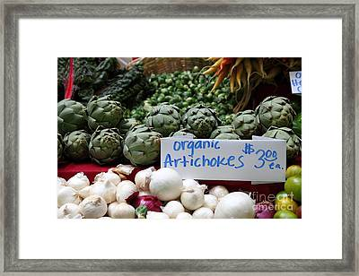 Organic Artichokes - 5d17065 Framed Print by Wingsdomain Art and Photography