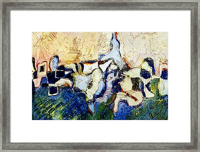 Organic Connections Framed Print by Mindy Newman