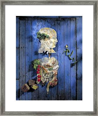 Organic Food, Conceptual Image Framed Print by Paul Biddle