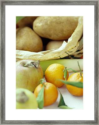Organic Fruits And Vegetables Framed Print by David Munns