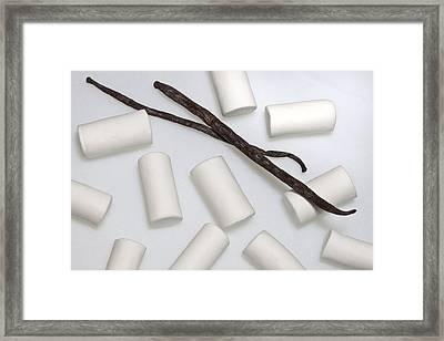 Organic Marshmallows With Vanilla Framed Print by Joana Kruse