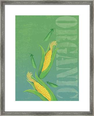 Organic Produce Illustration Framed Print by Don Bishop