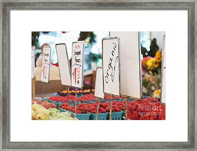 Organic Produce On Display Framed Print by Jetta Productions, Inc