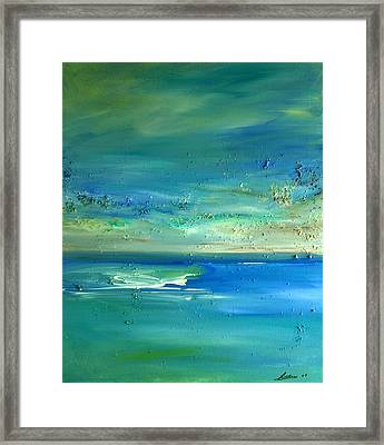 Organic Seascape Framed Print by Dolores  Deal