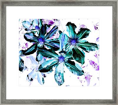 Organic Techno Flowers Framed Print