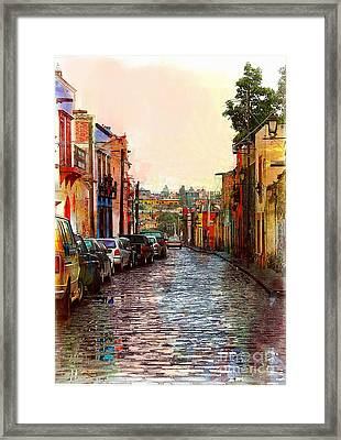 Organos Watercolor Framed Print by John Kolenberg