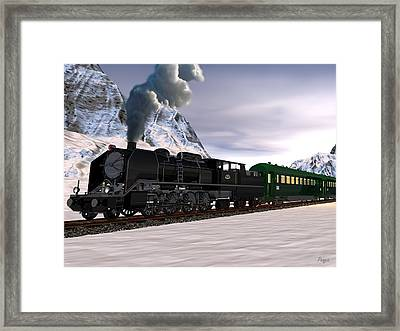 Framed Print featuring the digital art Orient Express by John Pangia