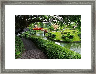 Oriental Garden  Framed Print by Gary Bridger