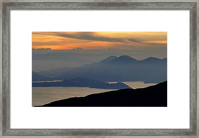 Oriental Sunset Framed Print