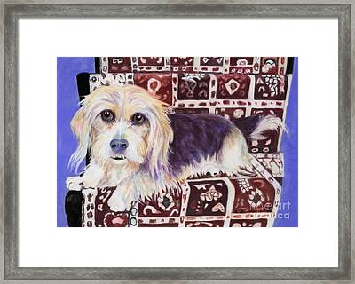 Oriental Toy Framed Print by Pat Saunders-White