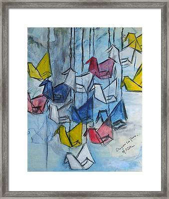 Origami For Peace Framed Print by Michel Croteau