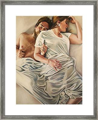 Origin Of Love #4 Framed Print by Emily Jones