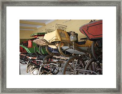 Original Ancient Vintage Wagon Framed Print by ilendra Vyas