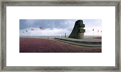Original D-day Monument Framed Print by Jan W Faul