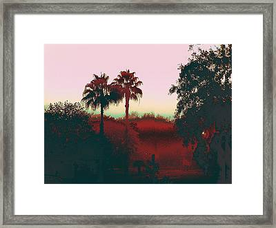 Original Fine Art Digital Gulf Coast Misty Morning Framed Print