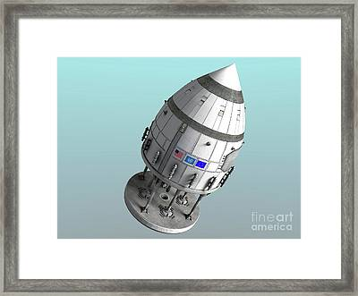 Orion-drive Spacecraft In Standard Framed Print by Rhys Taylor