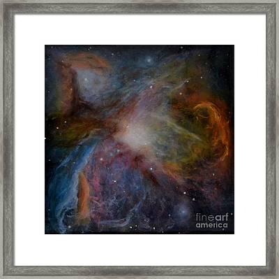 Orion Nebula Framed Print by Alizey Khan