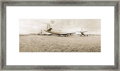 Orion P-3s Amarc - Tucson Framed Print by Jan W Faul
