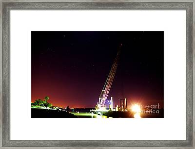 Orion The Barge And The Tugboat. Framed Print