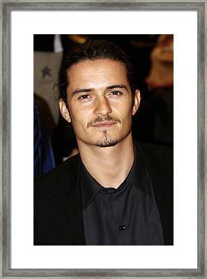 Orlando Bloom At Arrivals Framed Print by Everett