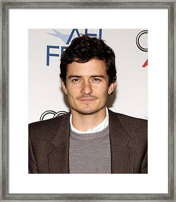 Orlando Bloom At Arrivals For Afi Fest Framed Print by Everett