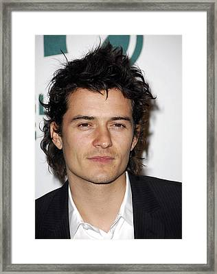 Orlando Bloom At Arrivals For Global Framed Print by Everett