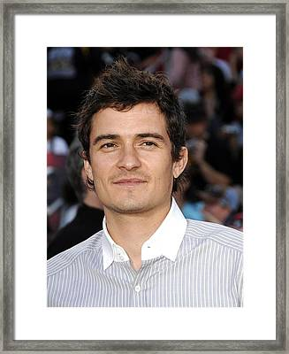Orlando Bloom At Arrivals For Premiere Framed Print by Everett