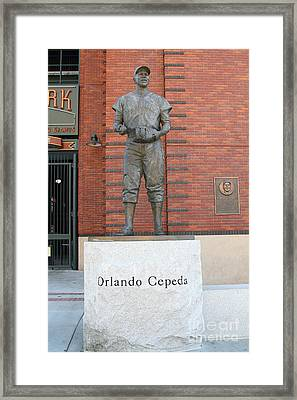 Orlando Cepeda At San Francisco Giants Att Park .7d7631 Framed Print by Wingsdomain Art and Photography
